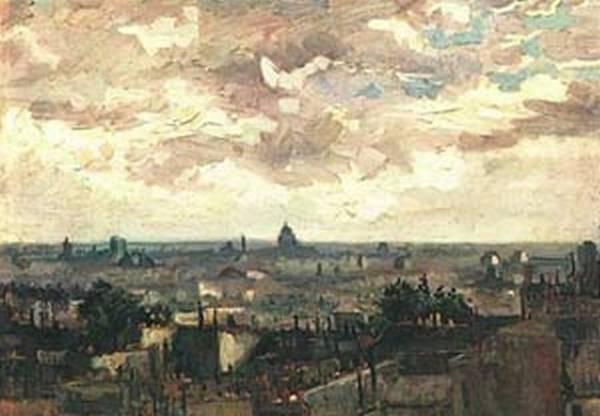 View pf the roofs of paris 1886 xx van gogh museum amsterdam